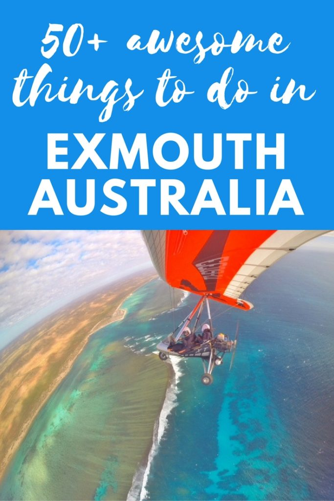 50+ awesome things to do in Exmouth Western Australia microlight