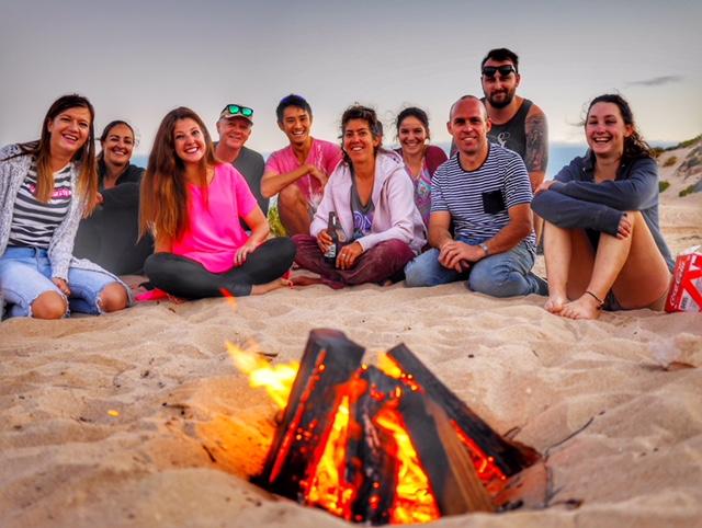 Beach bonfire Exmouth