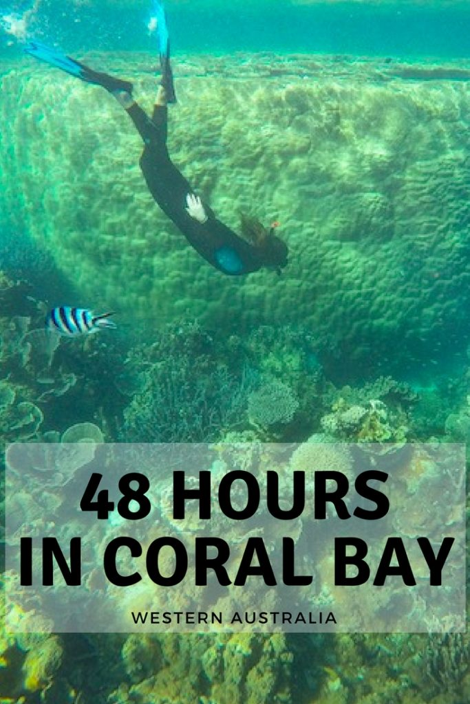 48 hours in coral bay western australia