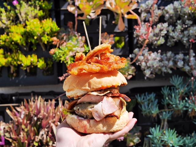 Eat a burger at Bill's in Coral Bay