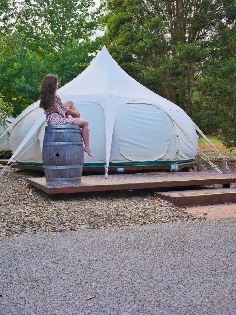 Glamping Hub Bell Tent Yarra Valley The Sweet Wanderlust