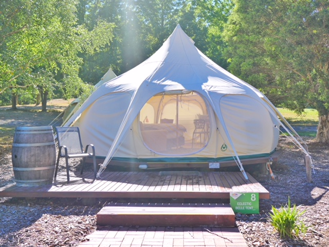 Glamping Hub Big4 Yarra Valley bell tent