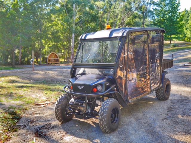 Glamping Hub Big4 Yarra Valley glamping buggy