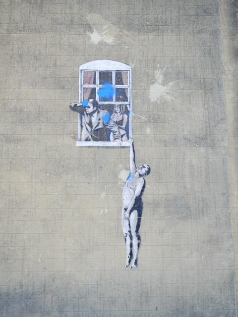 Banksy Art in Bristol - Well Hung Lover