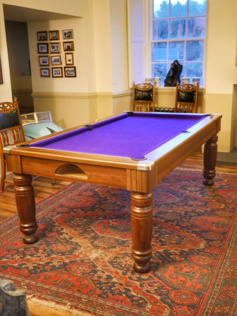 Castle of Park purple pool table
