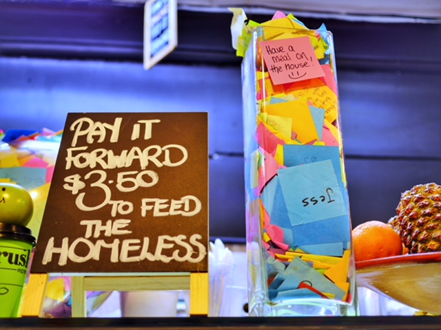 Pay it forward The Soup Place Melbourne