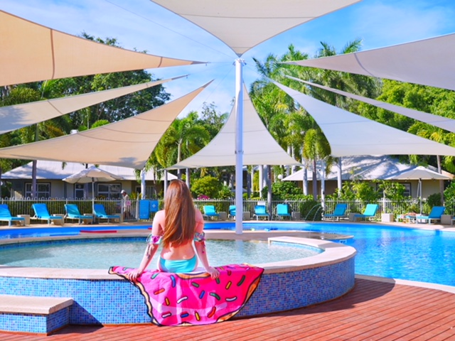 Relaxing at Seashells Broome - the best pool in Cable Beach
