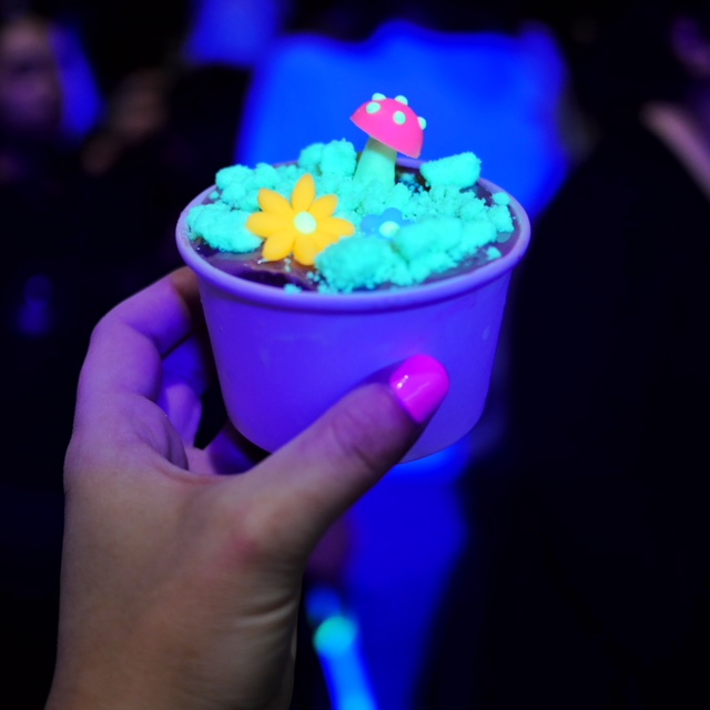 196 Below glow in the dark ice cream at Melbourne White Night