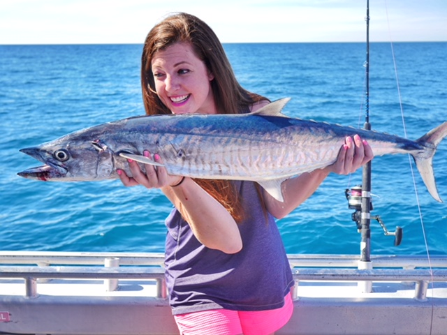 Catching a mackerel with Absolute Ocean Charter Broome