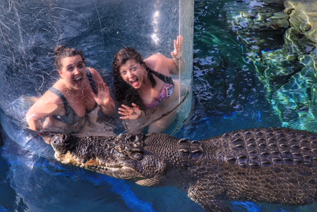 Crocosaurus Cove Darwin, NT Cage of Death