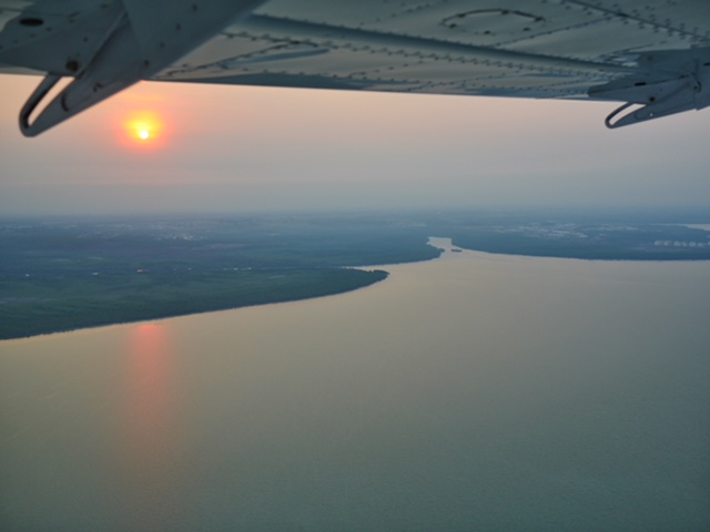 Darwin floatplane sunrise