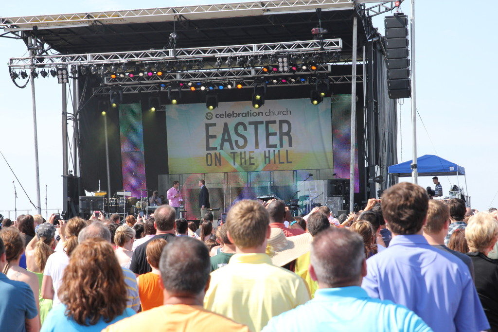 Easter service with Tim Tebow