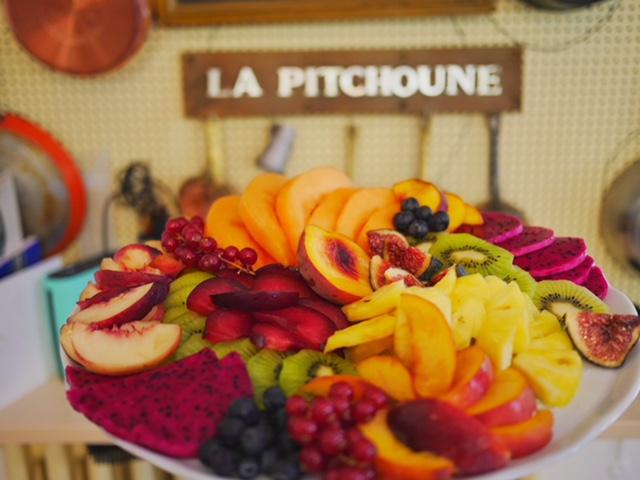 Fruit platter at La Pitchoune