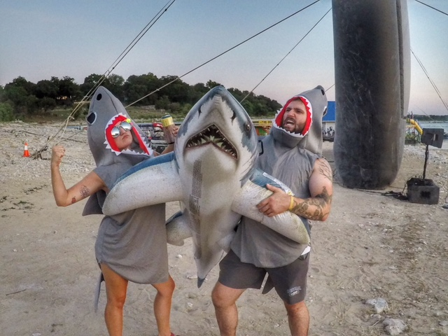 Jaws on the Water Austin Texas shark selfie
