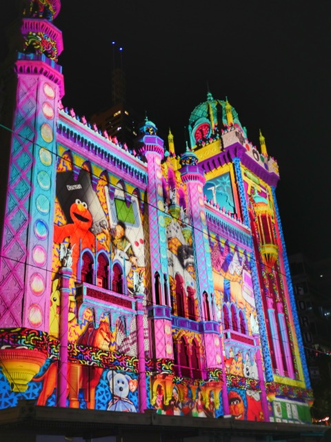 Melbourne White Night building projections