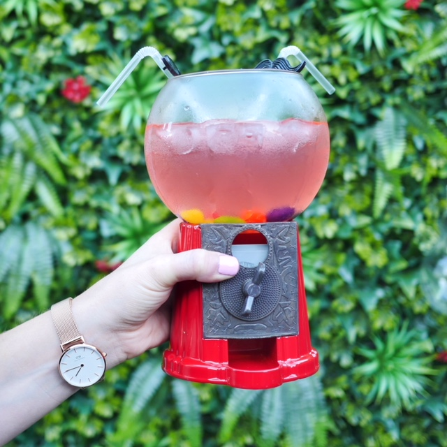 Sweetie and Moustache gumball cocktail