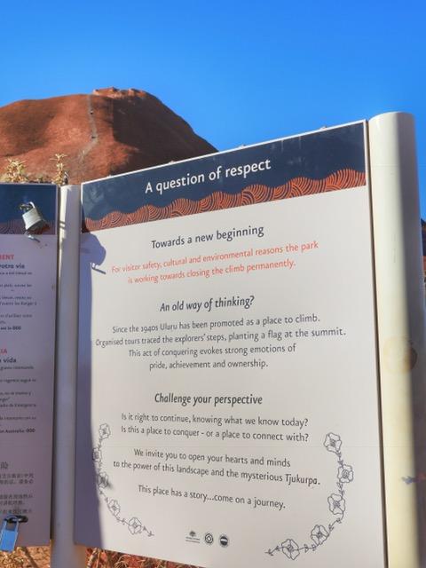 Uluru - don't climb