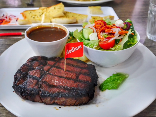 Waygu Beef at TIm's Surf & Turf in Darwin