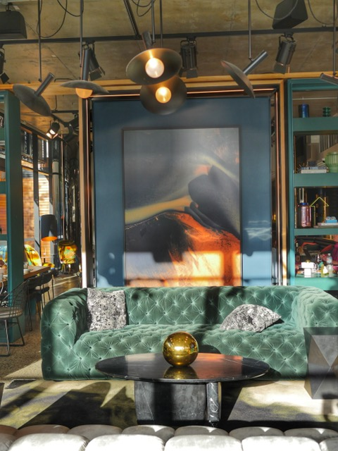 Tribe Perth common area teal couch