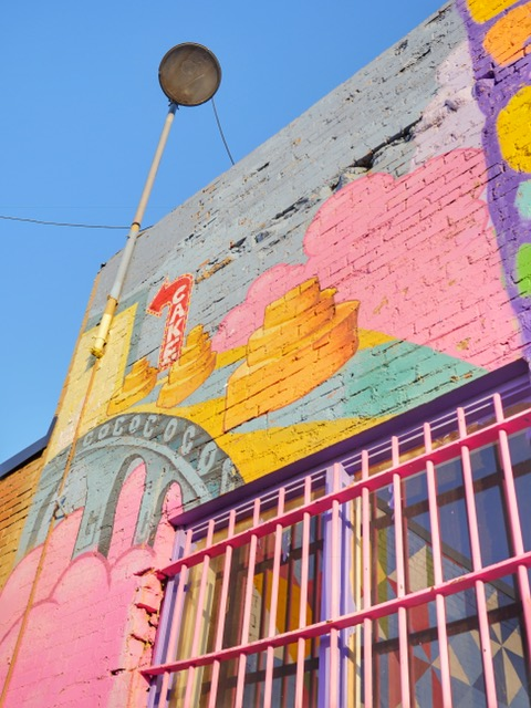 Deep Ellum Murals in Dallas Texas Cake
