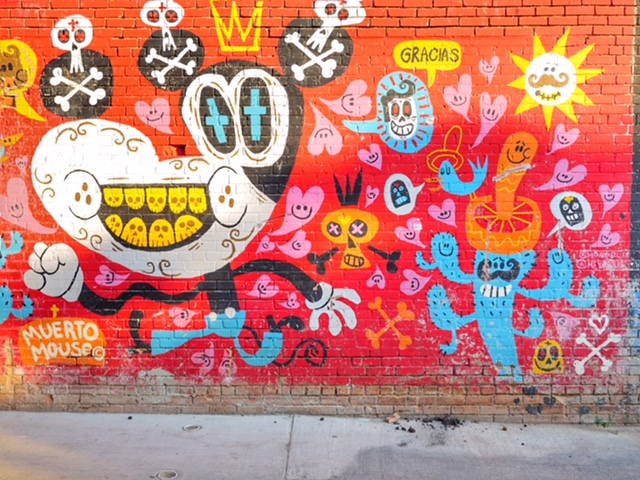 Deep Ellum Murals in Dallas Texas Muerto Mouse