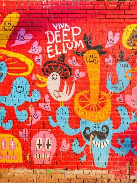 Deep Ellum Murals in Dallas Texas Viva Deep Ellum