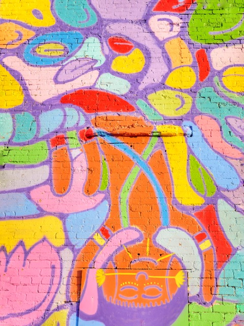 Deep Ellum Murals in Dallas Texas colorful