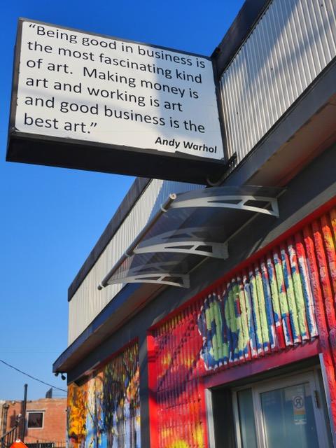 Andy Warhol Deep Ellum Street Art Dallas TX Healthcare Art Consulting