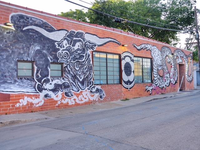 Deep Ellum Street Art Dallas TX Niwa Japanese BBQ
