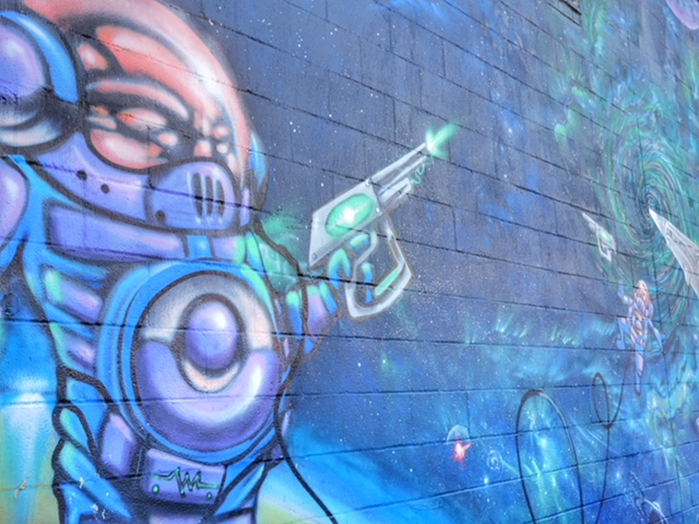 Deep Ellum Street Art Dallas TX alien invasion