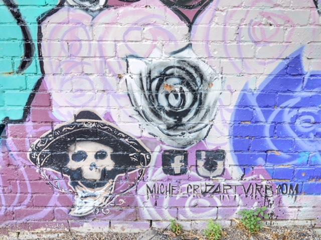 Deep Ellum Street Art Dallas TX skull