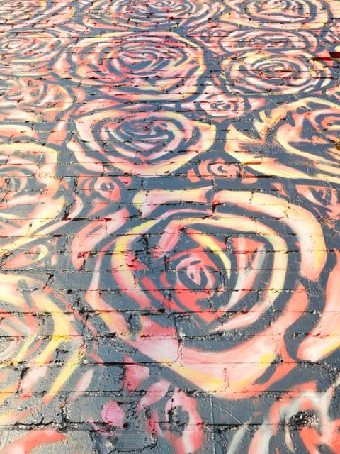 Deep Ellum Street Art Dallas TX roses
