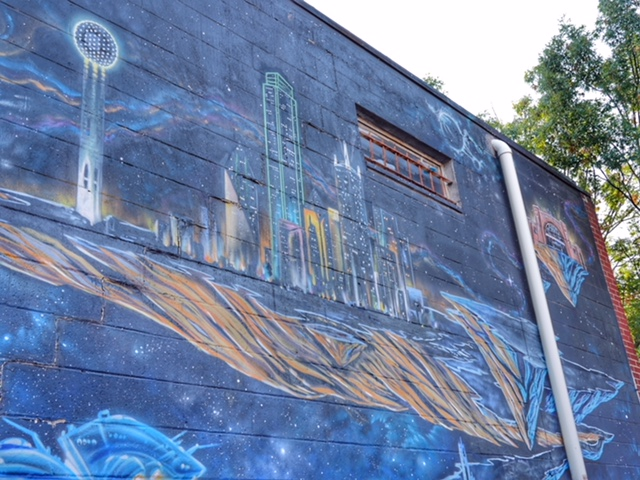Deep Ellum Street Art Dallas TX invaded by aliens