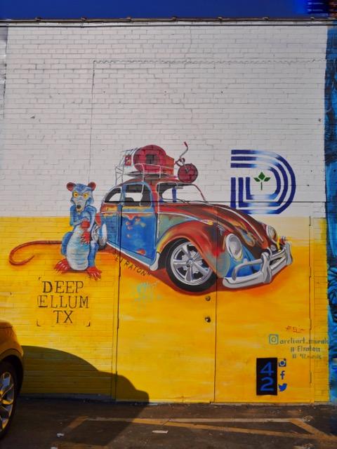 Areli Mural Deep Ellum Street Art Dallas TX