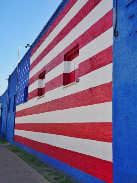 American Flag Deep Ellum Street Art Dallas TX