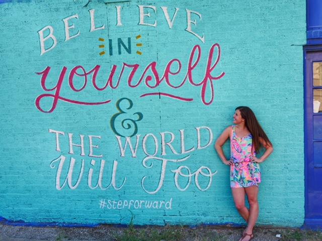 Believe in Yourself Deep Ellum Street Art Dallas TX