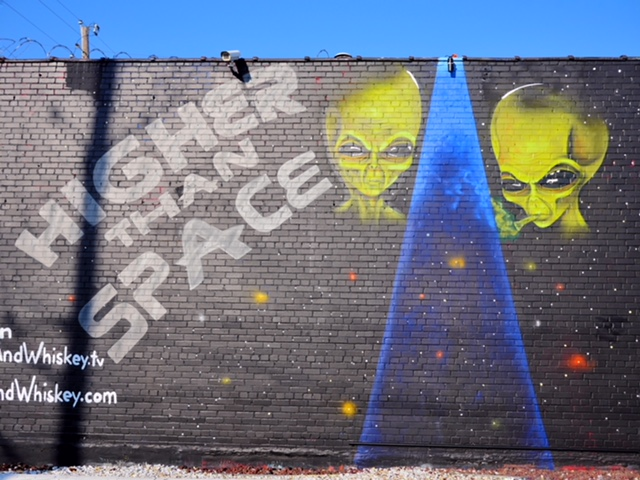 HIgher Than Space Aliens Deep Ellum Street Art Dallas TX