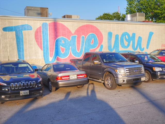 I love you Deep Ellum Mural in Dallas Texas
