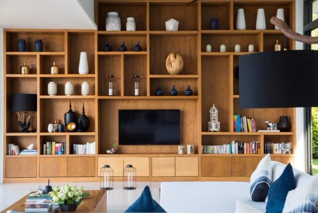 Living room at Malouna, a luxury 7 bedroom beach front villa located in Bang Por, Koh Samui, Thailand
