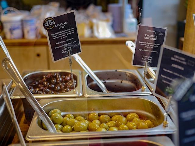 Secret London Food Tours ouzo kalamata olives