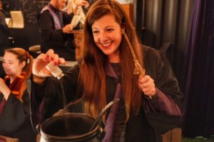 Adding Kalaxian crystals to a magical potion at The Cauldron London