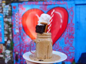 Canvas Cafe Shoreditch Lotus Biscoff vegan freakshake London