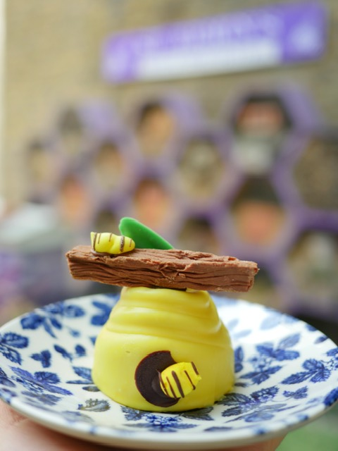 St. Ermin's Hotel London JuBEElee Afternoon Tea - bee hive banana mousse