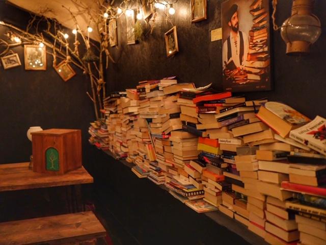 The Cauldron London book wall