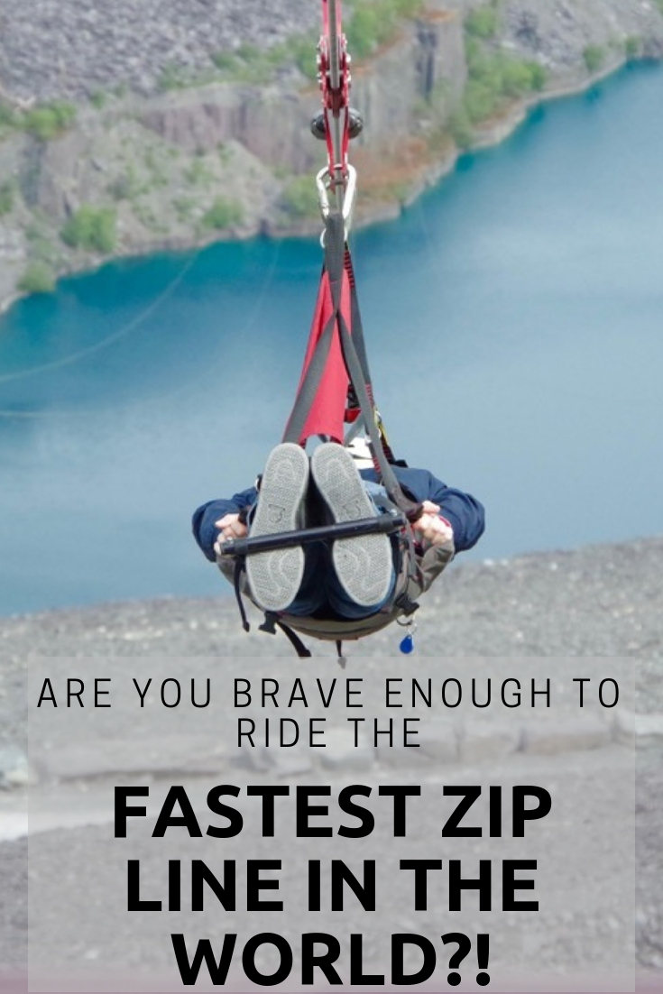 The fastest zip line in the world - Velocity 2 at ZipWorld in Snowdonia Wales