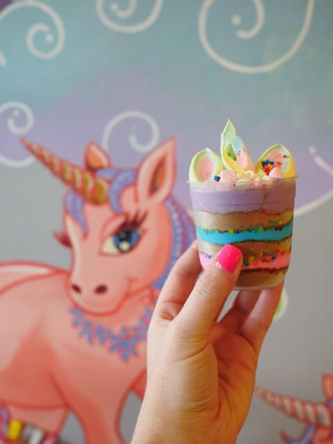 Unicorn cheesecake at Rainbow Dreams Cafe Quezon City Manila