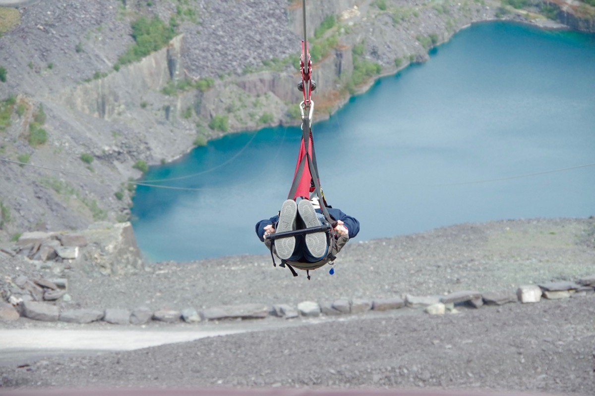 Velocity 2 in Snowdonia Wales - fastest zipline in the world