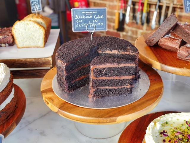 Desserts Brighton England Flour Pot Blackout Cake