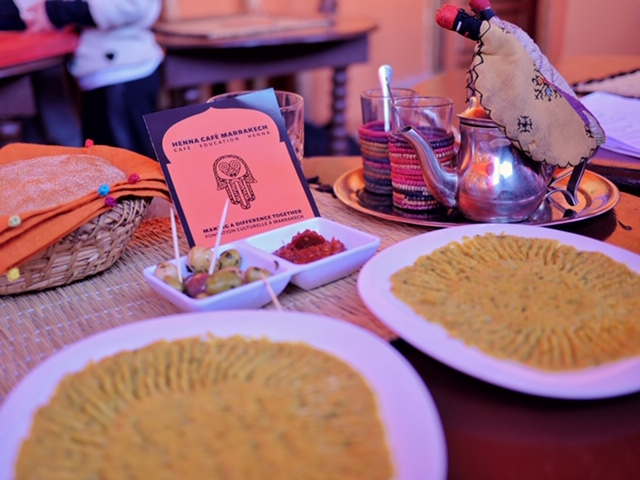 Henna Cafe - best hummus in Marrakech - charitable project for Moroccan education