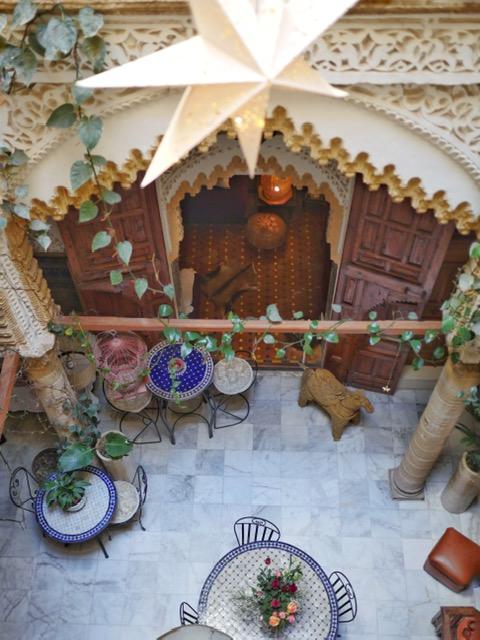 Riad Marhaba Rabat common area